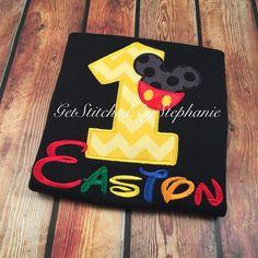 Boy's Mickey Mouse Birthday Shirt Customized on Etsy, $20.00