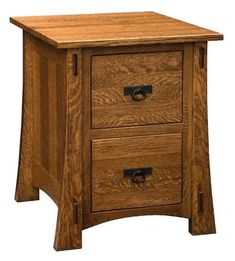 Modesto Mission File Cabinet Pick 2, 3, or 4 drawers and the Modesto is built to suit. Notice the through tenons and graceful tapering-all signs of quality construction. Amish made in Indiana in choice of wood, finish and hardware.