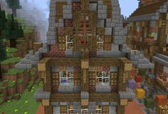 Fantasy Town House 1 - GrabCraft - Your number one source for MineCraft buildings, blueprints, tips, ideas, floorplans!