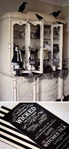 Why can I not find an inexpensive hutch for my herbs, oils, candles, etc.?  (Loralee Lewis Witches Tea Halloween party)