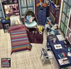 Retexture of Jonesi Single Blanket Converted by MXIMS at Gisheld via Sims 4 Updates