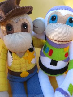 Woody & Buzz-so i don't love the sock monkey movement butt these are just dang cute