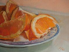 Orange and Blue by Beth Bathe Oil ~ 6 x 8
