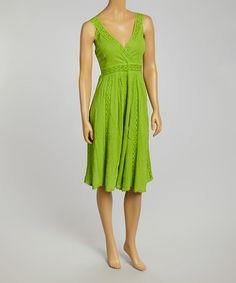 Another great find on #zulily! Green Lace Empire-Waist Dress #zulilyfinds