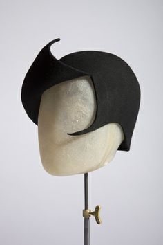 Smurf in black - Rachel Black Millinery