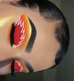 Unique Makeup Looks Eyeshadows ` Unique Makeup Looks Fire Makeup, Makeup Eye Looks, Eye Makeup Art, Crazy Makeup, Skin Makeup, Makeup Inspo, Eyeshadow Makeup, Makeup Inspiration, Makeup Ideas