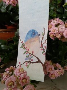 Acuarela. Pajarillo. Watercolors. Bird