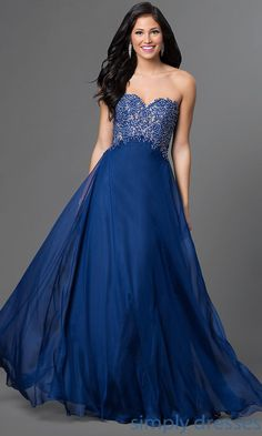 Alyce Strapless Sweetheart Lace-Up Prom Dress - Brought to you by Avarsha.com