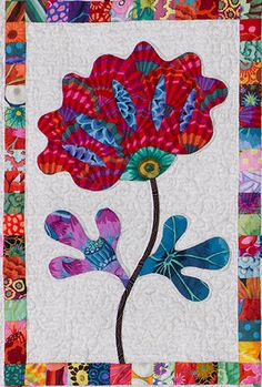 close up of flower # 5 Applique Templates, Applique Patterns, Applique Quilts, Quilt Patterns, Applique Ideas, Quilting Projects, Quilting Designs, Landscape Art Quilts, Flower Quilts