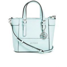 Guess Delaney Lizard Embossed Mini Tote 905 Zar Liked On Polyvore Featuring