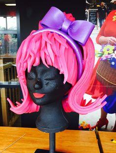 Think PINK Pop Art Costume, Costume Hats, Headdress, Headpiece, Foam Wigs, Cindy Lou, Crazy Hats, Christmas Wonderland, Glow Party