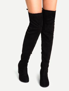 Shop Black Suede Lace Up Over The Knee Boots online. SheIn offers Black Suede Lace Up Over The Knee Boots & more to fit your fashionable needs.