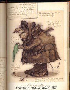 Common House Boggart Mythical Creatures Art, Mythological Creatures, Magical Creatures, Fantasy Creatures, Art And Illustration, Spiderwick, Kobold, Monster, Fantastic Beasts