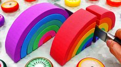 ToyTocToc presents making Rainbow Kinetic Sand Roll Cake Slide Disney Cars and learn colors with nursery rhymes songs for kids Car Nursery, Kids Nursery Rhymes, Kinetic Sand, Learning Colors, Disney Cars, Coloring For Kids, Rainbow, Bingo, Cake
