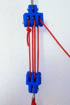 Block and Tackle by microcut -- Homemade 3D-printed block and tackle intended for utilization with 4mm ropes. http://www.homemadetools.net/homemade-block-and-tackle