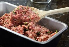 Mom's Classic Home-Cooked Meatloaf: Basic Meatloaf Mix is ground beef, eggs, milk, ketchup and cracker crumbs