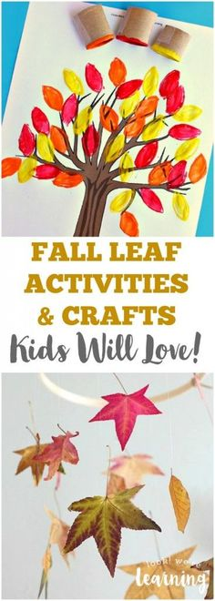 These fun leaf activities for kids include plenty of fall leaf crafts, leaf art…