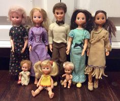 Sunshine Family/Star Spangled Dolls by Mattel, Vintage Mattel Dolls, Sunshine Family Dolls, Star Spangled Dolls, Vintage Barbie Dolls by Lalecreations on Etsy Mattel Dolls, Vintage Barbie Dolls, Vintage Oddities, Star Spangled, Creepy Dolls, 2nd Baby, Vintage Games, Barbie Clothes, Etsy Vintage