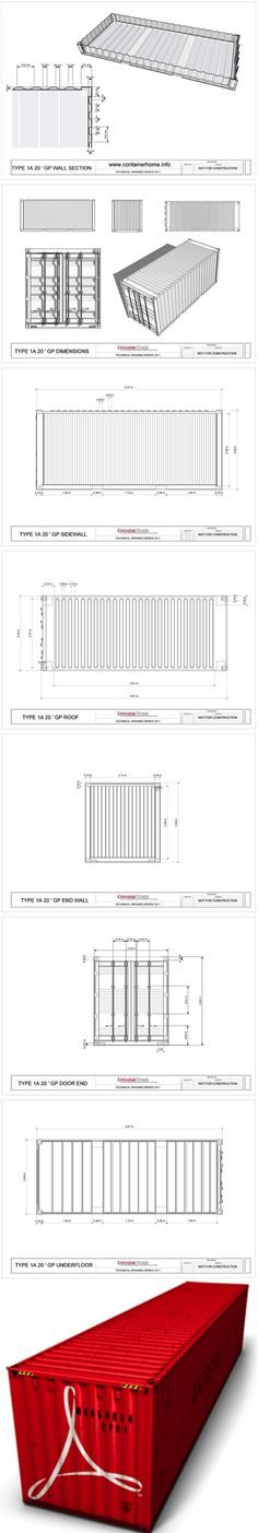 Free Shipping Container Technical Drawing Package