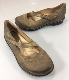 "Earth Womens 8.5 Alder Oatmeal Tan Leather Mary Janes 1"" Heels Shoes  #Earth #MaryJanes #Casual"