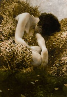 Brad Kunkle | The Source (oil and gold and silver on linen)