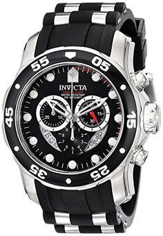 Invicta Men's 6977 Pro Diver Collection Chronograph Black Dial Black Polyurethane Watch Invicta http://www.amazon.com/dp/B003MYUQKA/ref=cm_sw_r_pi_dp_EG..wb03MTMK2
