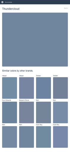 Thundercloud, Behr. Click the image to see similiar colors by other brands.