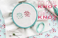 Colonial knot vs French knot - Red Brolly