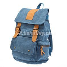 Koolertron Women Men Vintage Canvas Backpack / Rucksack School Bag / Satchel Hiking Bag / Student Schoolbag (4 Colors)