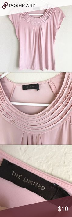 The Limited top Blush pink The Limited silky top size S. Pretty detail around the neckline. Excellent condition. The Limited Tops Blouses
