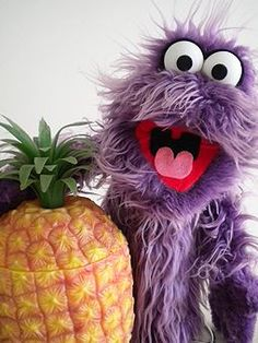 Pineapples always have that effect on little purple monsters.