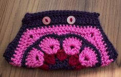 PINK Crochet African Flower Pouch with  by IstanbulMystique, $12.95 Crochet African Flowers, Crochet Purses, Purses And Bags, Pouch, Beanie, Trending Outfits, Unique Jewelry, Hats, Handmade Gifts