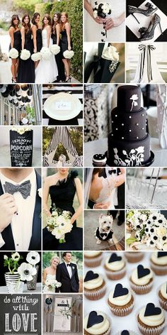 Black and White Wedding Inspiration. Love love love the flower girl's dress. Look at this for Emma!