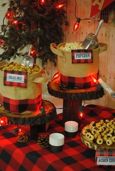 Food and decoration ideas for a Lumber Jack baby shower! Lumberjack Birthday Party, 1st Boy Birthday, 1st Birthday Parties, Birthday Ideas, Baby Shower Themes, Baby Boy Shower, Shower Ideas, Fete Julie, Decoration Buffet