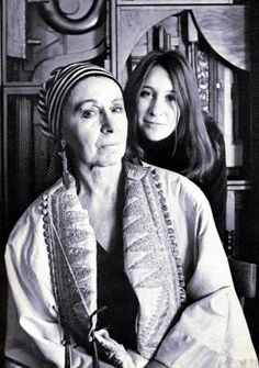 Artists - Louise Nevelson with her granddaughter Neith Nevelson  photo by Ugo Mullas 1967 for issue of Art in America