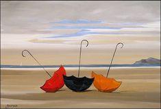 Plateforme de ventes aux enchères en ligne Catawiki : Christophe Gastaldi -Les parapluies sur la plage