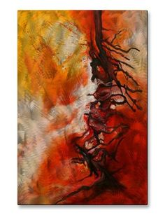 'Uprooted' by Olivia O'Keeffe Painting Print Plaque