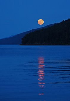 Moon by Mayne Island