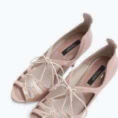 ZARA - WOMAN - HIGH HEEL LACE-UP SANDALS