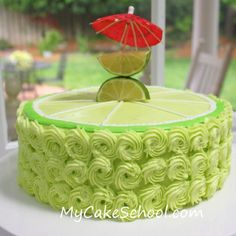 """Margarita cake shaped as a lime... @June Aurora if you were the groom, this would be your """"grooms cake""""!  :)"""