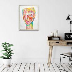 Hombre de Colores – Original Artwork Pastel Watercolor, Watercolor Pencils, Oil Pastel Colours, Eye Expressions, White Acrylics, Color Show, Colored Pencils, Original Artwork, Gallery Wall