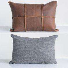 Leather And Felt Throw Pillow Leather And Felt Throw Pillow. Cheap Throw Pillows, Leather Throw Pillows, Leather Pillow, Diy Pillows, How To Make Pillows, Couch Pillows, Leather Cushions, Rustic Decorative Pillows, Antique Farmhouse