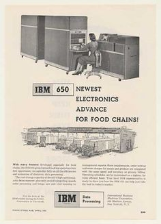 IBM 650 Data Processing Computer for Food Chain (1955).