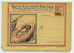 "B.L.P. 20 c. (2) su busta nuova ""Cassa Navale ed assicurazioni"". Oliva, Biondi."