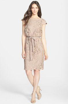 Tadashi Shoji Lace Blouson Dress (Regular Petite) available at avlbl at valley fair, stone ridge, SF, Stonestown Trendy Dresses, Simple Dresses, Cute Dresses, Beautiful Dresses, Casual Dresses, Summer Dresses, Dress Outfits, Fashion Dresses, Dress Brokat