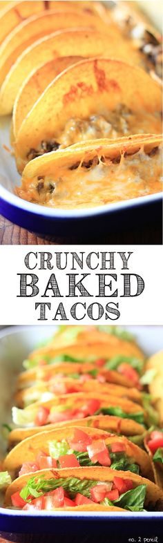 "Crunchy Baked Tacos - these were ok but not as good as I wanted them to be.  I think I'll go back to the ""traditional"" way of doing tacos via heating the shells in the oven then filling them."