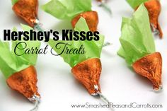 Here's a super quick and super cute gift idea for an Easter treat that I put together the other day. I always love seeing the new Hershey's Kisses flavors that come into store seasonally and when I saw the Carrot Cake ones I was like, 'Whaaa!?!' and stopped in my tracks. First, they taste just …