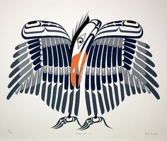 art fromKwakwaka'wakw Nation to start the new decade. An indigenous group who live on or near to Vancouver Island, they have a rich history of art and culture, and the images of the sacred creatures – ravens, bears, salmon, eagles, etc – their artists produce seem particularly bold and dynamic within the Native American tradition. The graphic simplicity of this work is really effective, the Kwakwaka'wakw's traditions stretch back centuries