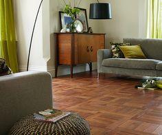 Karndean Vinyl Flooring - Art Select Parquet - Black Oak Compatible with underfloor heating. Karndean Vinyl Flooring, Oak Parquet Flooring, Luxury Vinyl Tile Flooring, Floors, Mahogany Flooring, Vinyl Tiles, Floor Design, Tile Design, Small Living Rooms
