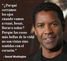 Denzel Washington, Inspirational Phrases, Motivational Phrases, Inspiring Quotes, Yoga, Spanish Quotes, True Words, Beautiful Words, Cool Words